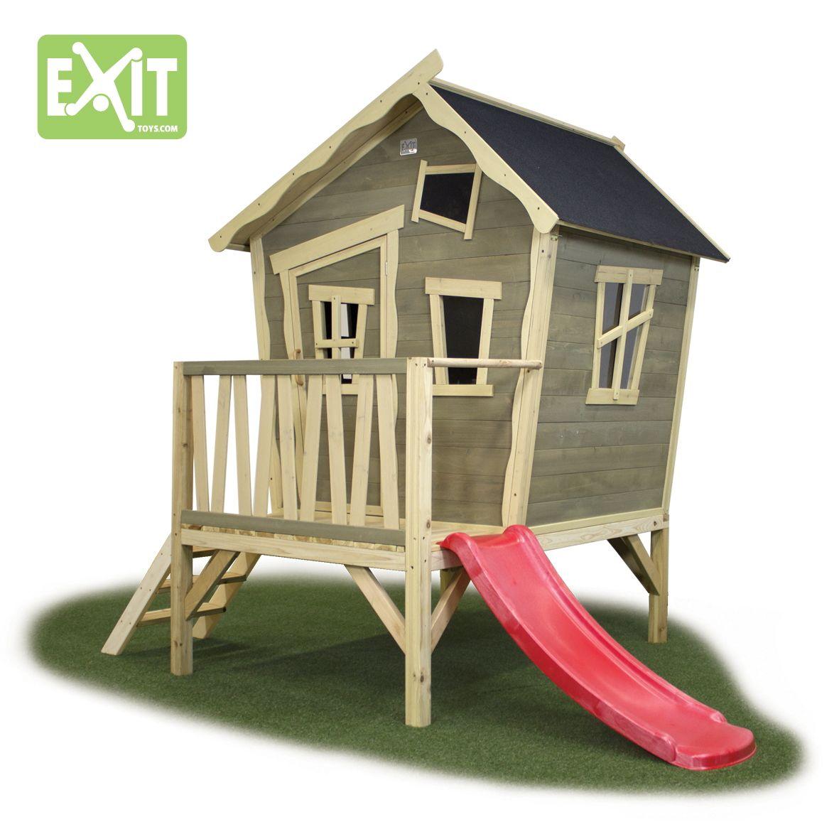 Kinder-Spielhaus EXIT «Crooky 300» Kinderspielhaus Holzhaus ...