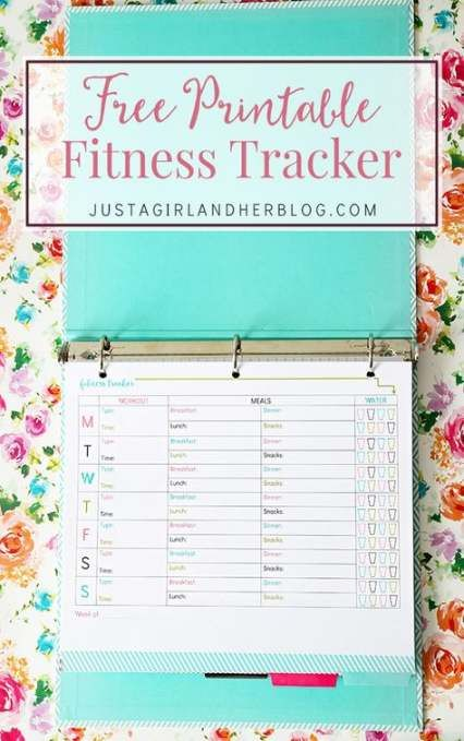 48 ideas fitness tracker printable free healthy eating #fitness