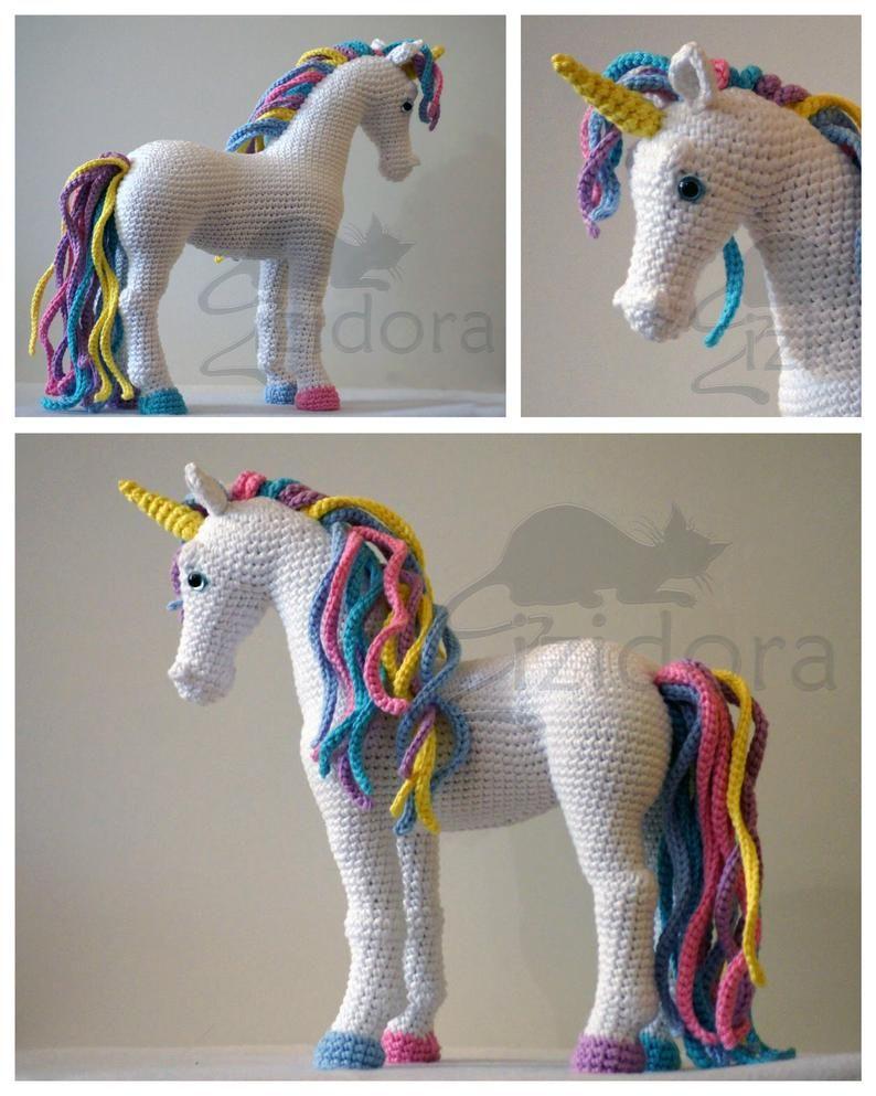 PATTERN: Candi the Unicorn, Crochet Unicorn Pattern, crochet horse, Amigurumi Unicorn, Amigurumi Pattern, Amigurumi Horse