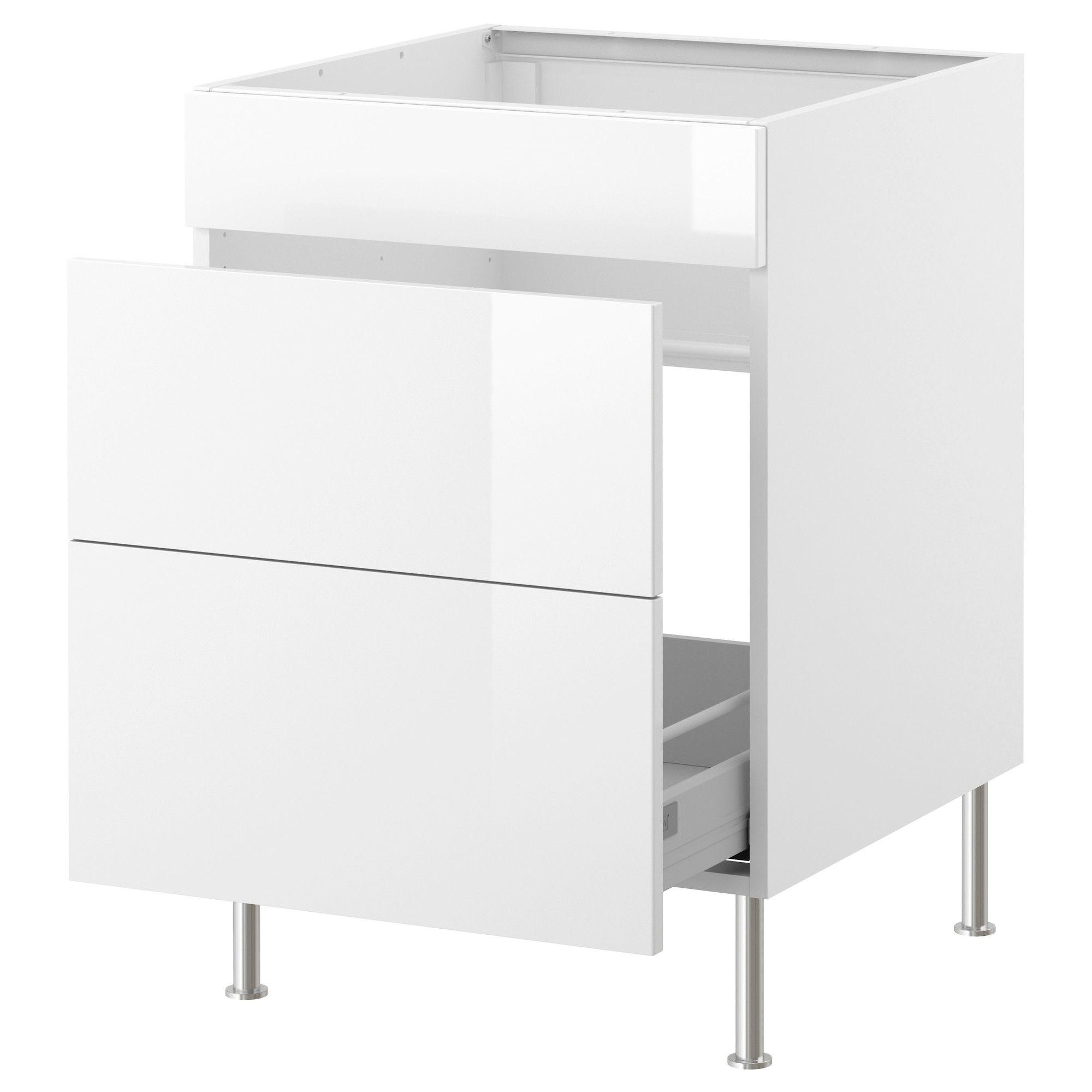 Faktum Meuble Evier Tri Dechets Abstrakt Blanc 60 Cm Ikea Meuble Evier Decoration Interieure Et Exterieure Ikea