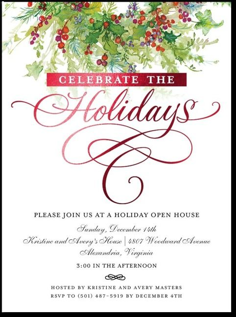 Superior Open House Christmas Party Ideas Part - 14: Open House Invitations