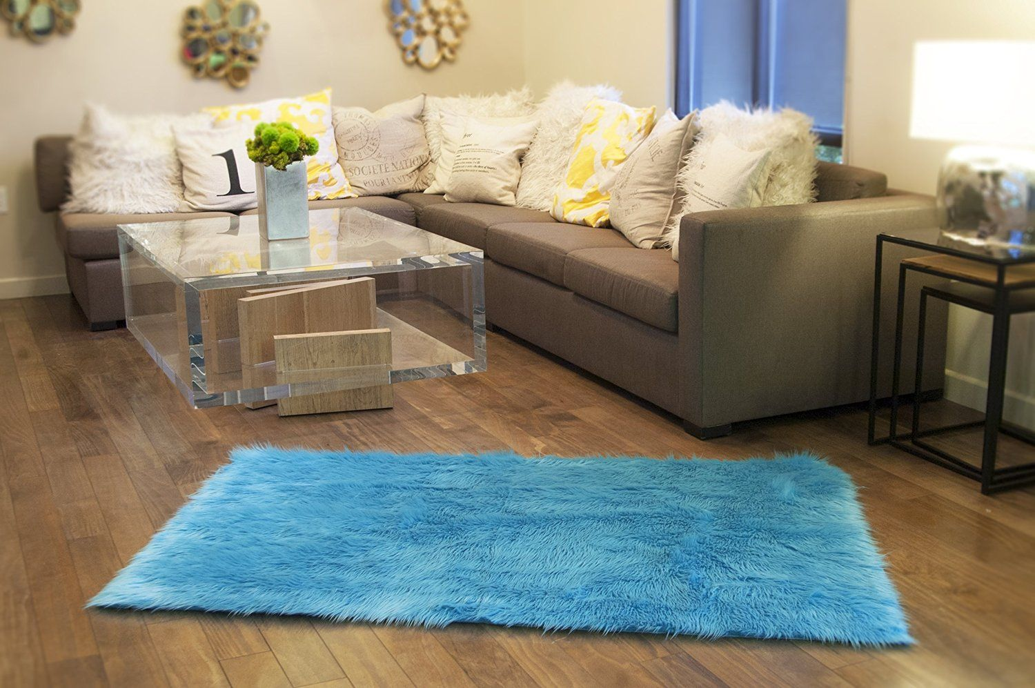 For living rooms especially, the rug stakes can feel pretty overwhelming. Elegance Modern Area Rug For Living Room and Office Shag ...