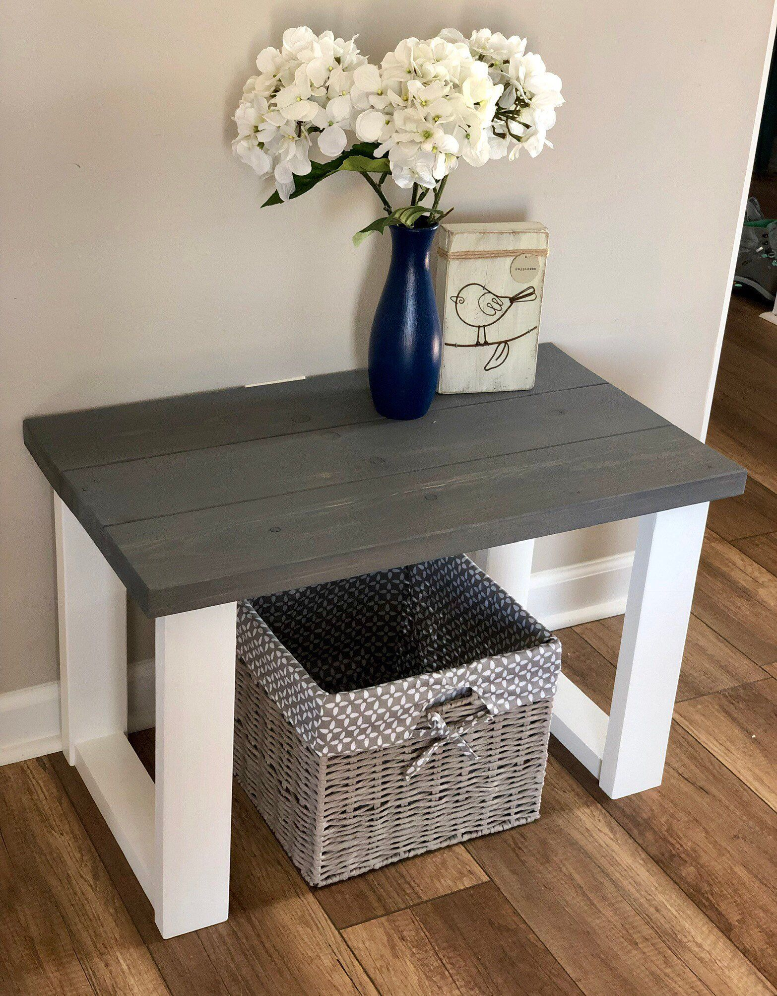 Small Entryway Bench Farmhouse Style Wood Bench in 2019