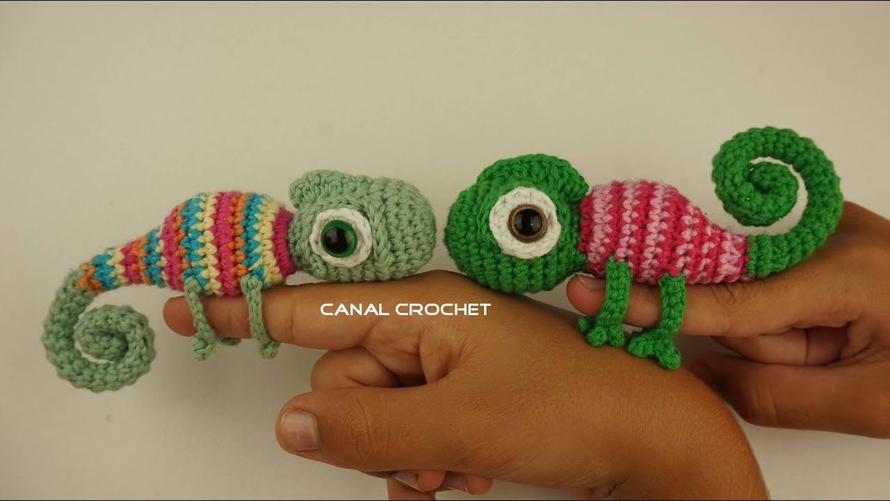Camaleón amigurumi tutorial - YouTube | Amigurumis | Pinterest ...