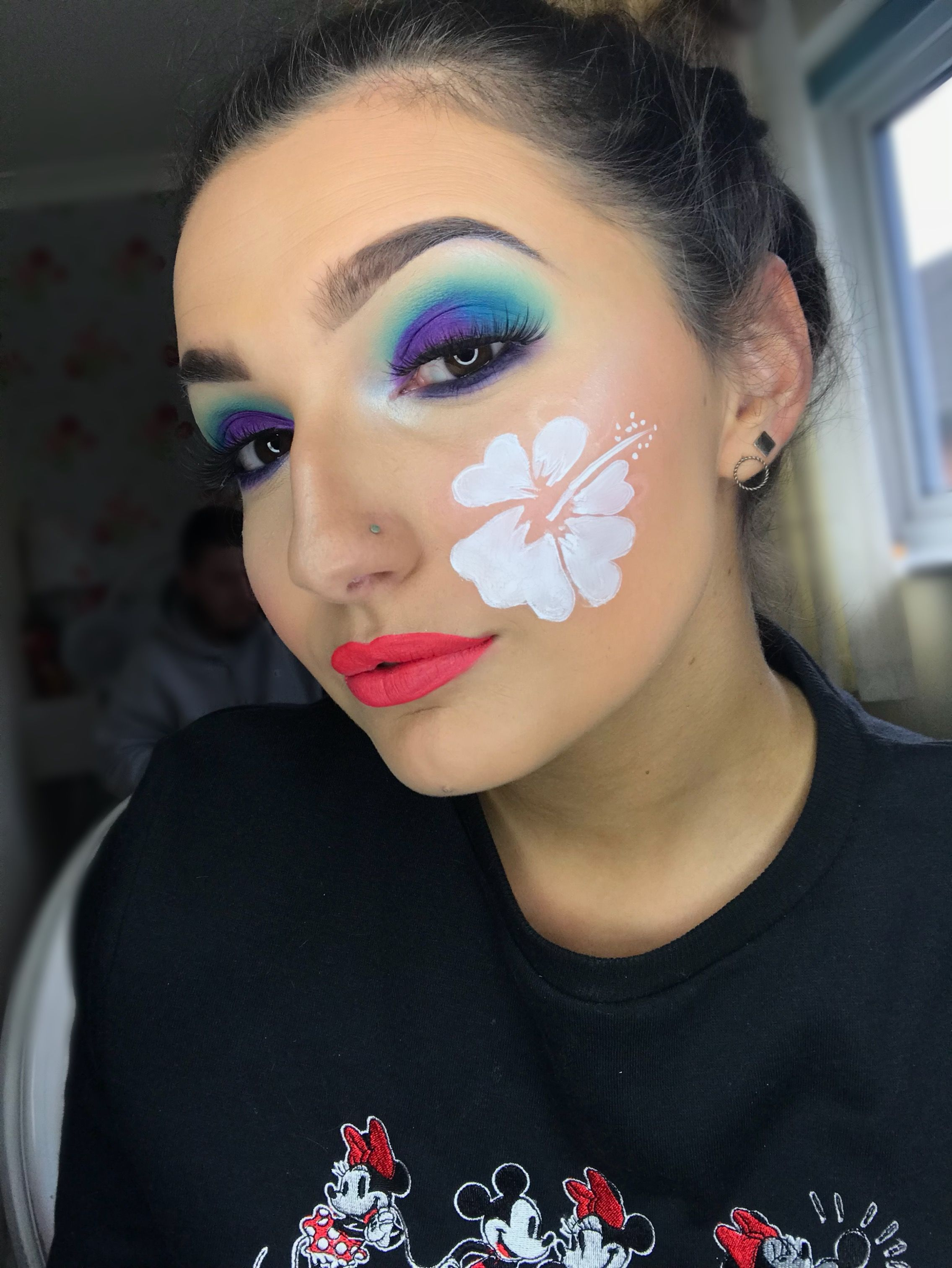 Lilo and Stitch inspired makeup look done by myself