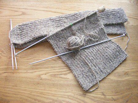 Knitting Socks Tutorial : Easy peasy eco friendly knitted tube socks earthday knitting