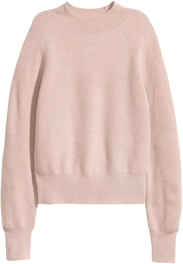 b7a0fe01716 H&M - Cashmere Sweater - Powder pink melange - Ladies | #Chic Only #Glamour  Always