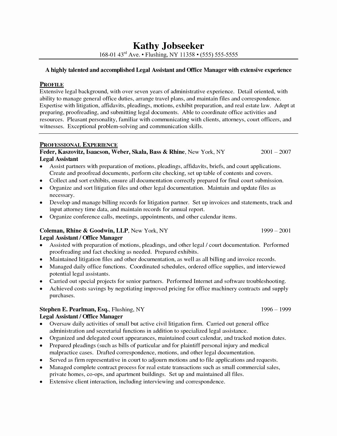23 Paralegal Cover Letter Good Objective For Resume Resume Objective Examples Resume Examples