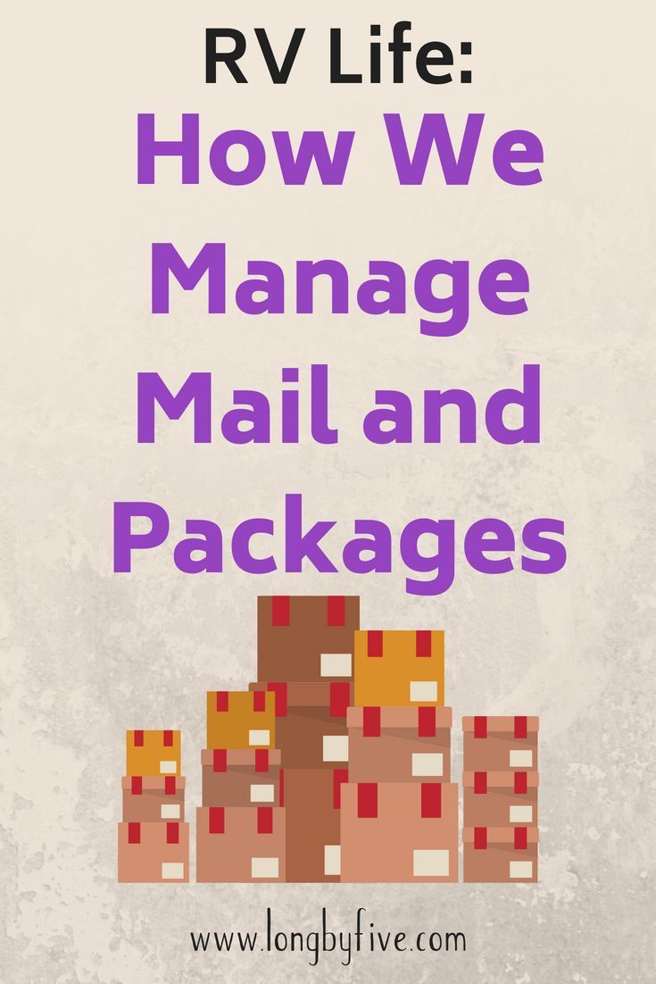 But how do you manage your mail and packages #rvtravel Here's how we manage receiving mail and packages while we travel in our RV. ----- RV Life, RV Living, RV Tips, RV Travel #rvliving