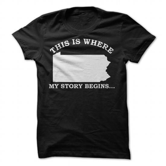 Pennsylvania This is where my story begins T-Shirt - #womens tee #college hoodie. Pennsylvania This is where my story begins T-Shirt, sweatshirt dress,tumblr sweater. ORDER NOW =>...