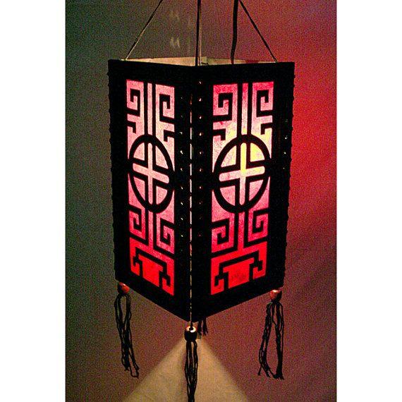 Zen hanging lamp lighting, Wood pendant lamp shade, Hanging ...