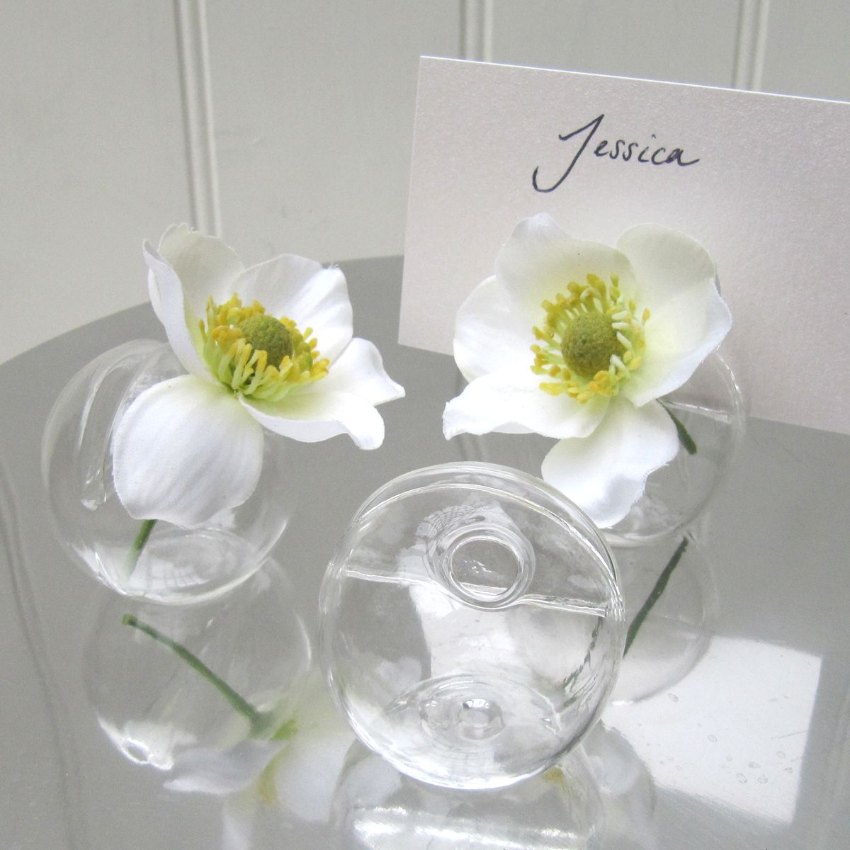 Wedding Planner Names Ideas: Unique Place Card Holder With Flower