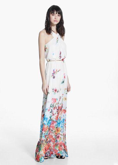 645529539361d Robe longue à fleurs   MANGO   Vêtements et accessoires   Robe, Robe ...