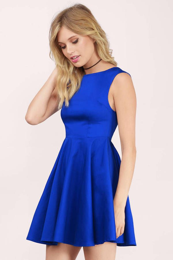 Resultado De Imagen De Vestidos Color Azul Rey Dress Skirt