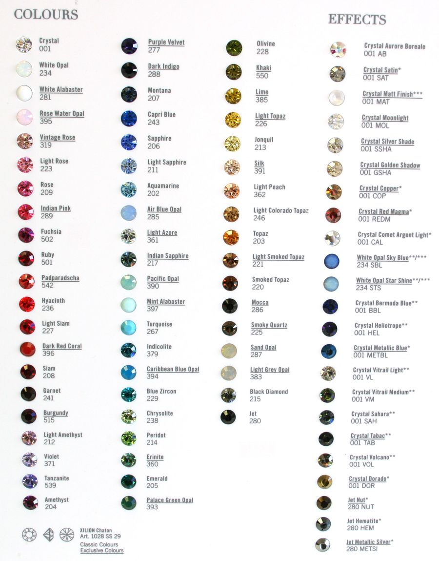 Swarovski Crystallized Elements Xilion Chaton Color Chart For Stud Earrings Light Topaz Custom Bling Crystal Moonlight