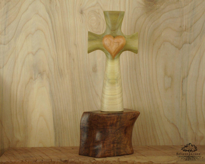 Claro Walnut Bible Cross Holder
