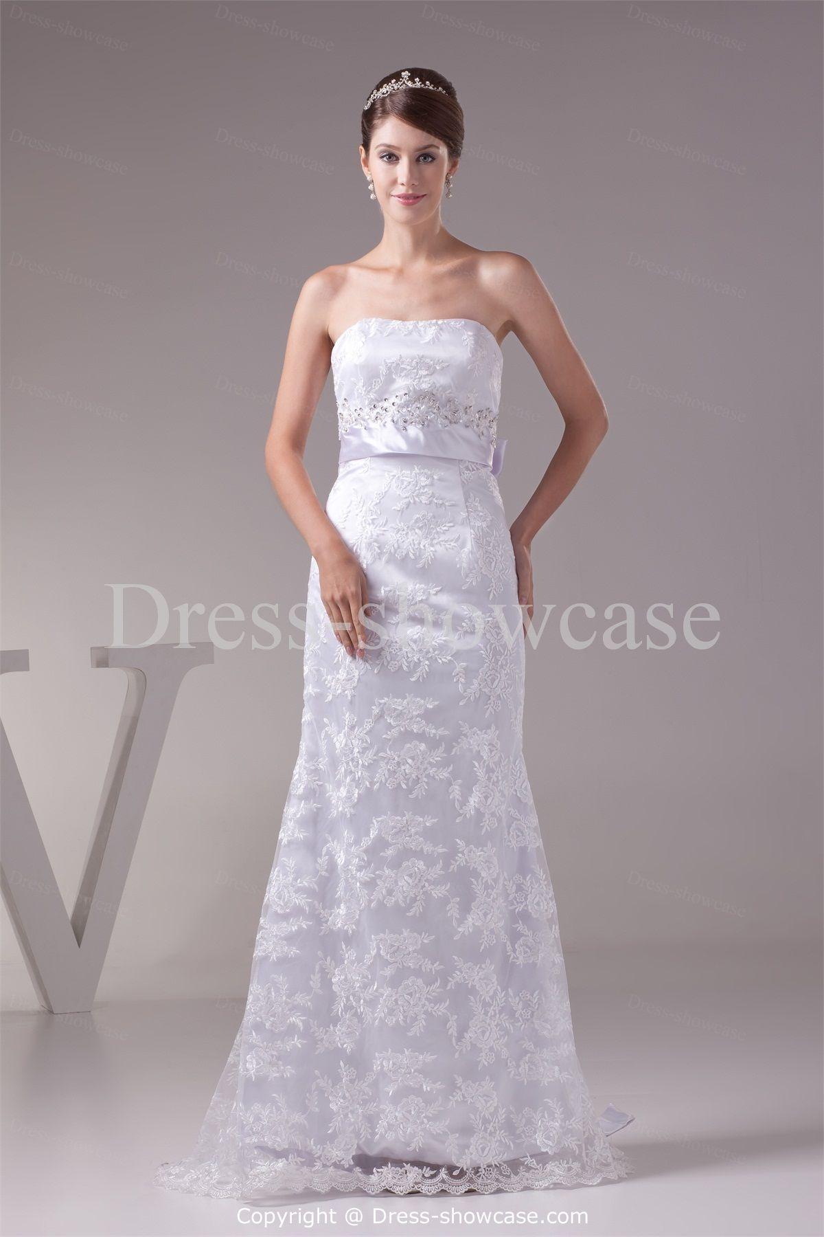 Corset-back Beading Beach/ Destination Wedding Dress -Wedding Dresses