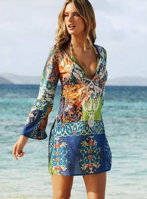 3d6c325a646d7 beach cover up tunic | boho | Vacation dresses, Fashion, Beach dresses