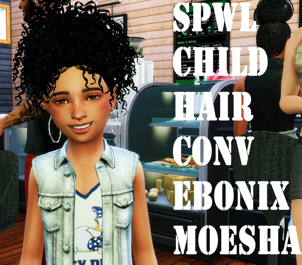 Lana Cc Finds Spwl Cf Ebonix Moesha Hair Ts4 Hair