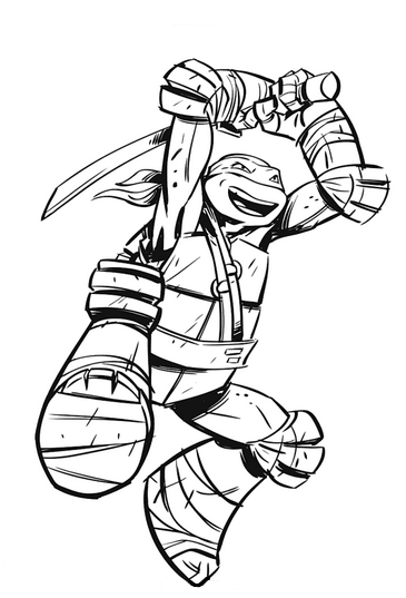 Paper Coloring Pages Ninja Turtle