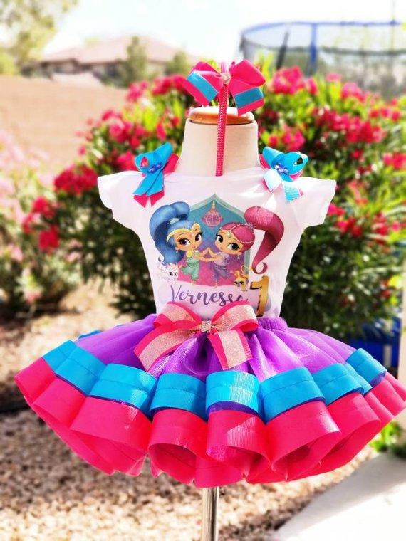 3eee8a04e Shimmer and Shine tutu,purple tutu,pink tutu,birthday tutu,cake ...