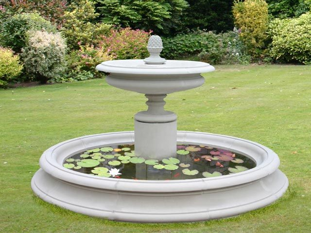 Charleston Cast Stone Fountain in Basin Products Pinterest