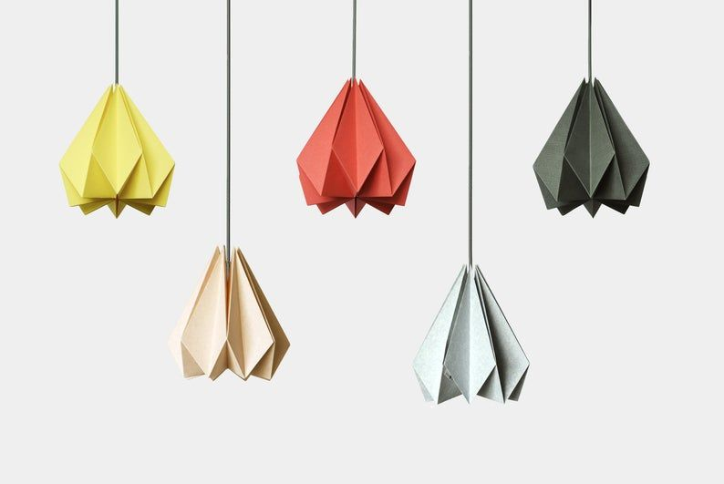 Photo of Brownfolds Paper Origami Lamp shade; Vanilla Bliss single pack