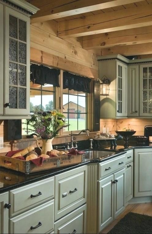 Pin By Michael McTighe On Dream House In 48 Pinterest Cabin Gorgeous Cabin Kitchen Ideas