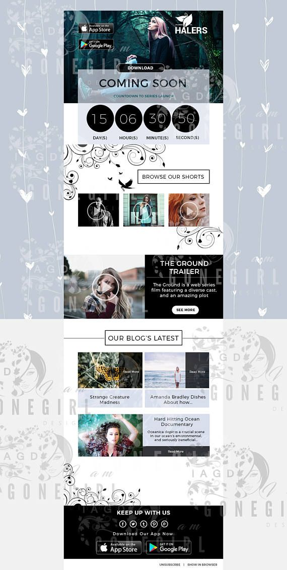 A stunning creative Photoshop email newsletter template that is - email newsletter template