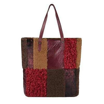 Photo of DAMEN PELZTASCHE Shopper Hobo Bag Leder Optik Schultertasche Metallic Handtasche…
