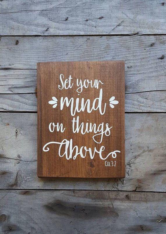 Wood signs sayings bible verse wall art wood wall art wooden sign
