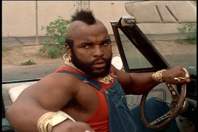 mrT or BA Baracus(BA stands for Bad Attitude, but i think heu0027s - ba stands for