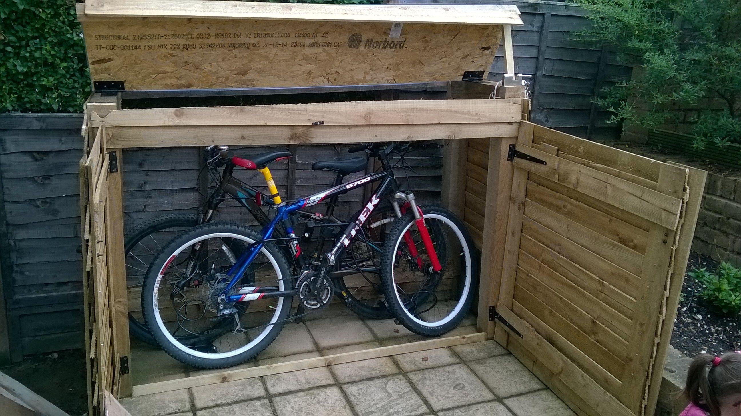 bike shelter bike shed diy house home in 2019 bike. Black Bedroom Furniture Sets. Home Design Ideas