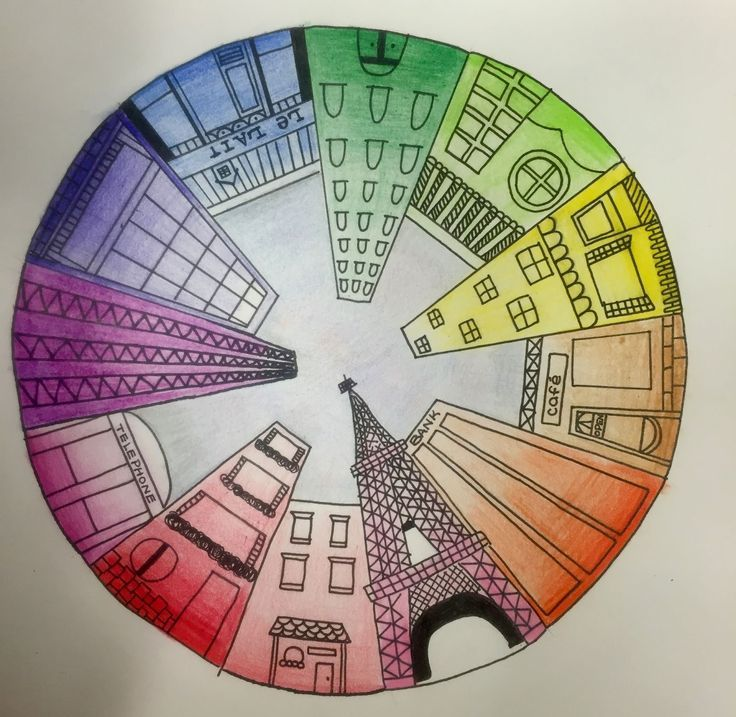 Objective Students Will Create A Color Wheel Using One Point Perspective Accurate Placement And Value CA Art Standards
