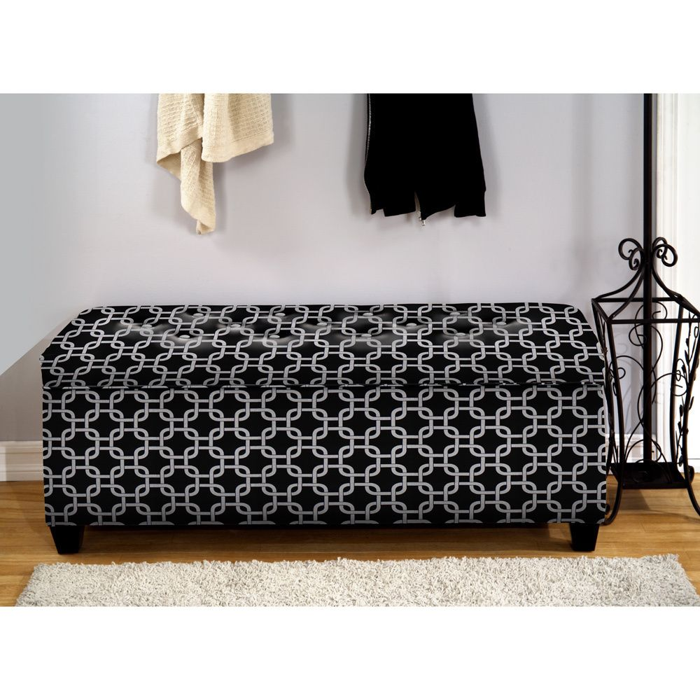 The Sole Secret Black Chain Shoe Storage Bench - Overstock™ Shopping ...