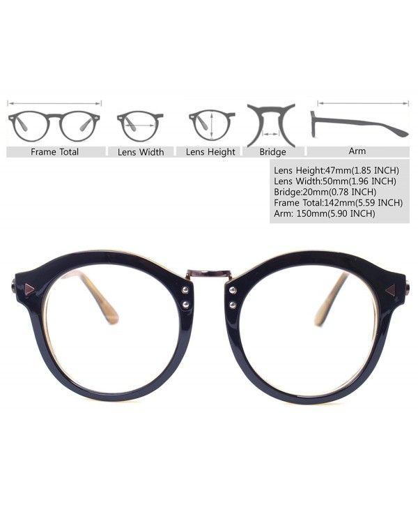 2fbe780854d Oversized Big Round Horn Rimmed Eye Glasses Clear Lens Oval Frame ...