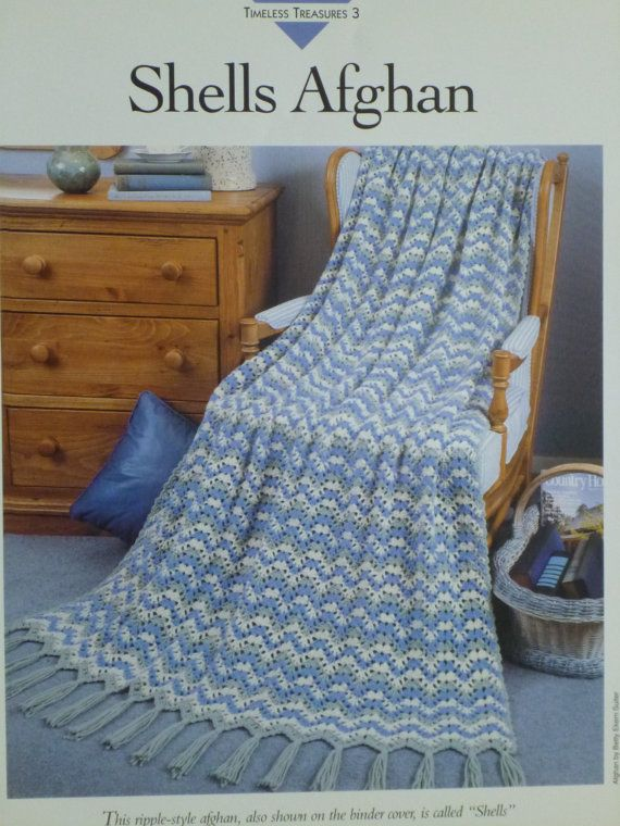 Shells Afghan pattern  Vanna's  715 by CarolsCreations77 on Etsy, $2.00
