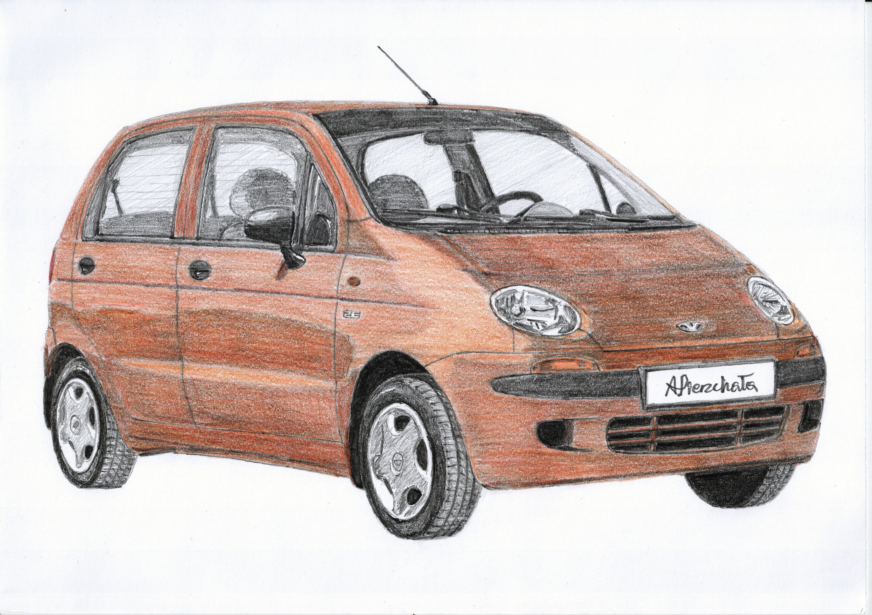 Daewoo Matiz Auto Pin Badge