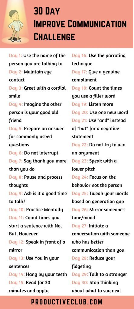 Have you always wanted to improve communication and converse better? Try the 30 day improve communication skills challenge. Whether you are looking to improve communication at work or if your target is to improve communication in relationships, you will benefit from it. Use these personal development tips to better a better communicator.  At the end of the 30 days, you can measure your self-improvement for yourself.  #communicationskills #personaldevelopment #selfimprovement
