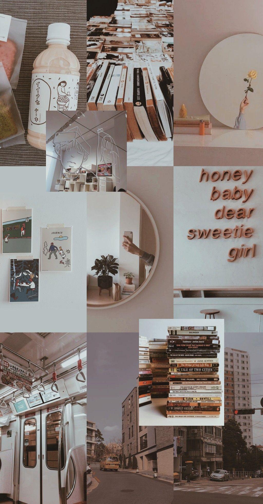 Wallpaper Aesthetic Mirror Sweetiegirl Book Brown Di 2020