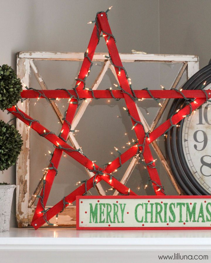 Perfect DIY Lighted Christmas Star   A Simple And Inexpensive Project! Make For  Under $10.