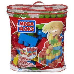 Mega Bloks 70 Pc Building Blocks Bag