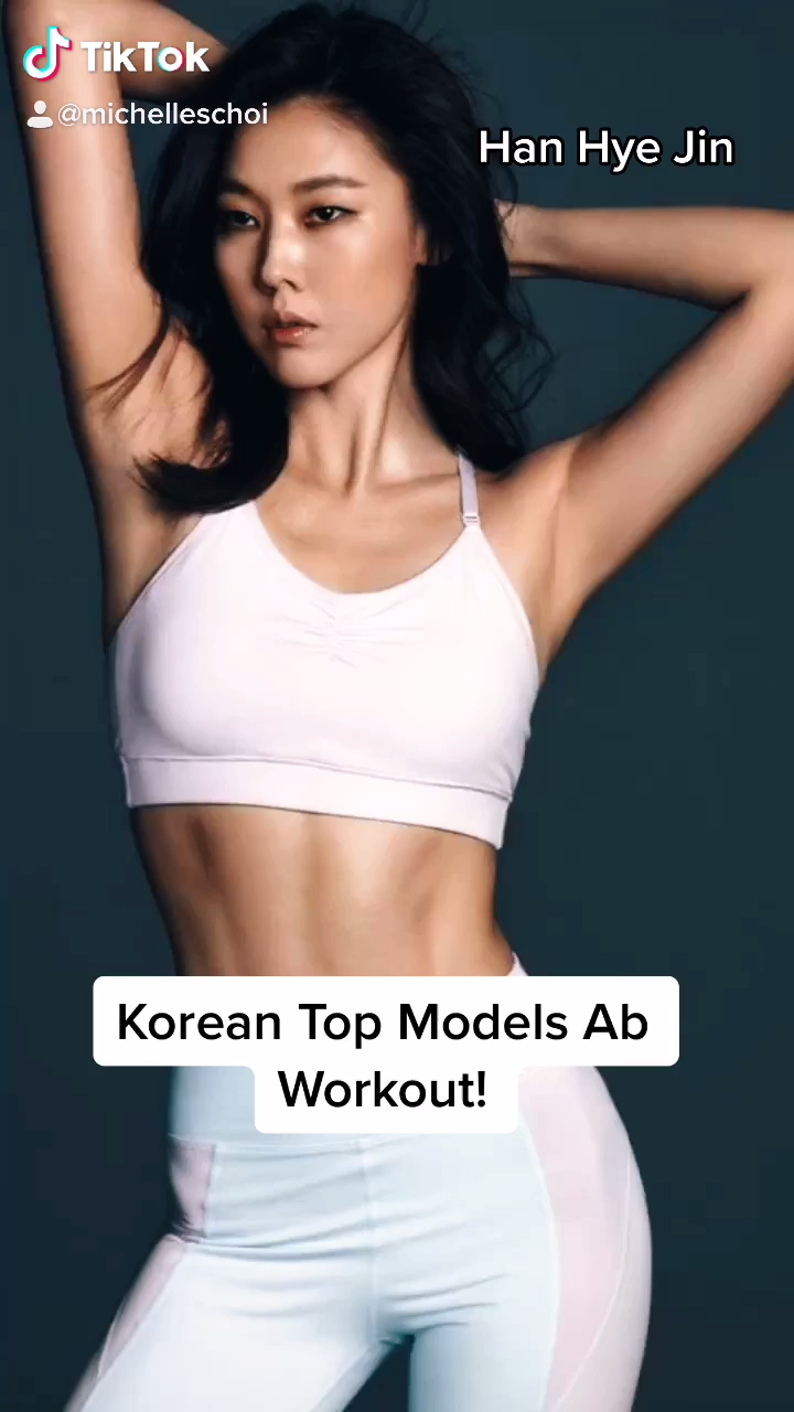 KOREAN TOP MODEL AB WORKOUT!