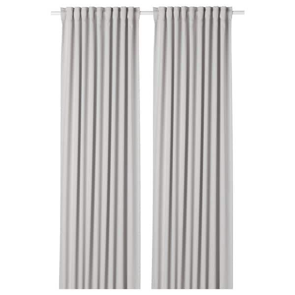 Majgull Room Darkening Curtains 1 Pair Light Grey 145x300 Cm Ikea Room Darkening Curtains Room Darkening Thick Curtains