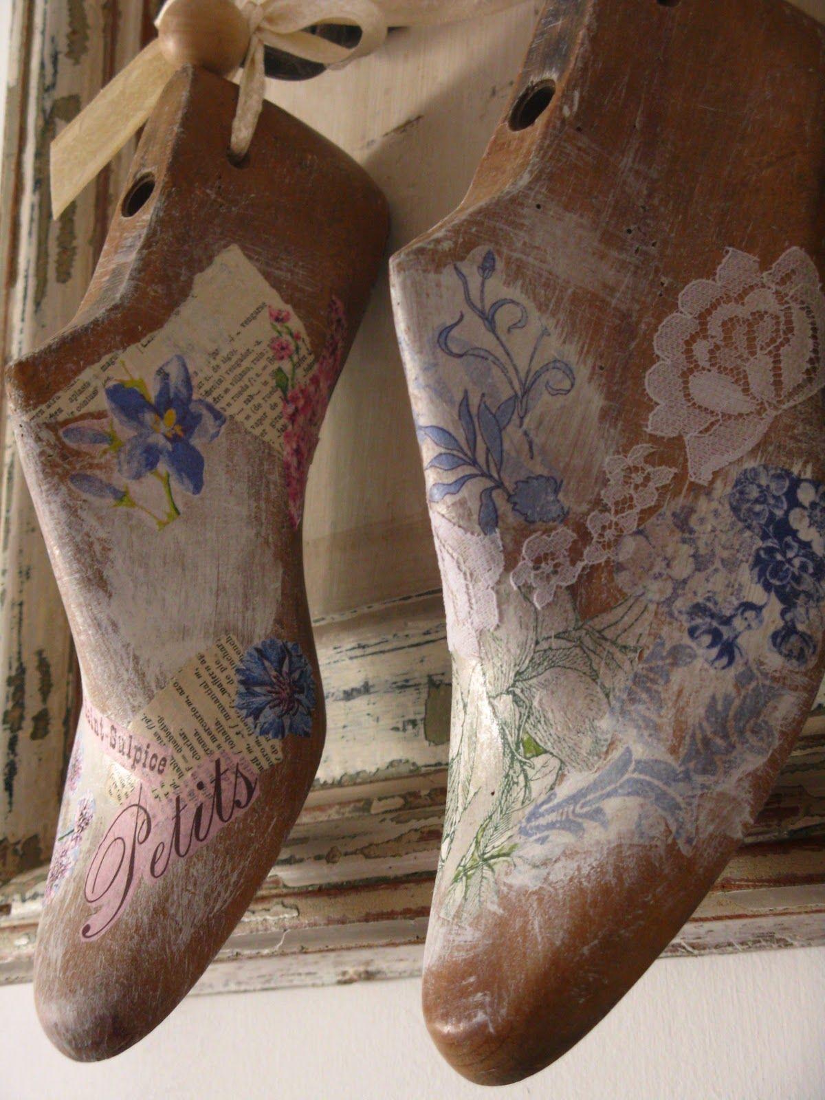 Hormas de zapatos pintadas a mano buscar con google - Muebles decorados a mano ...