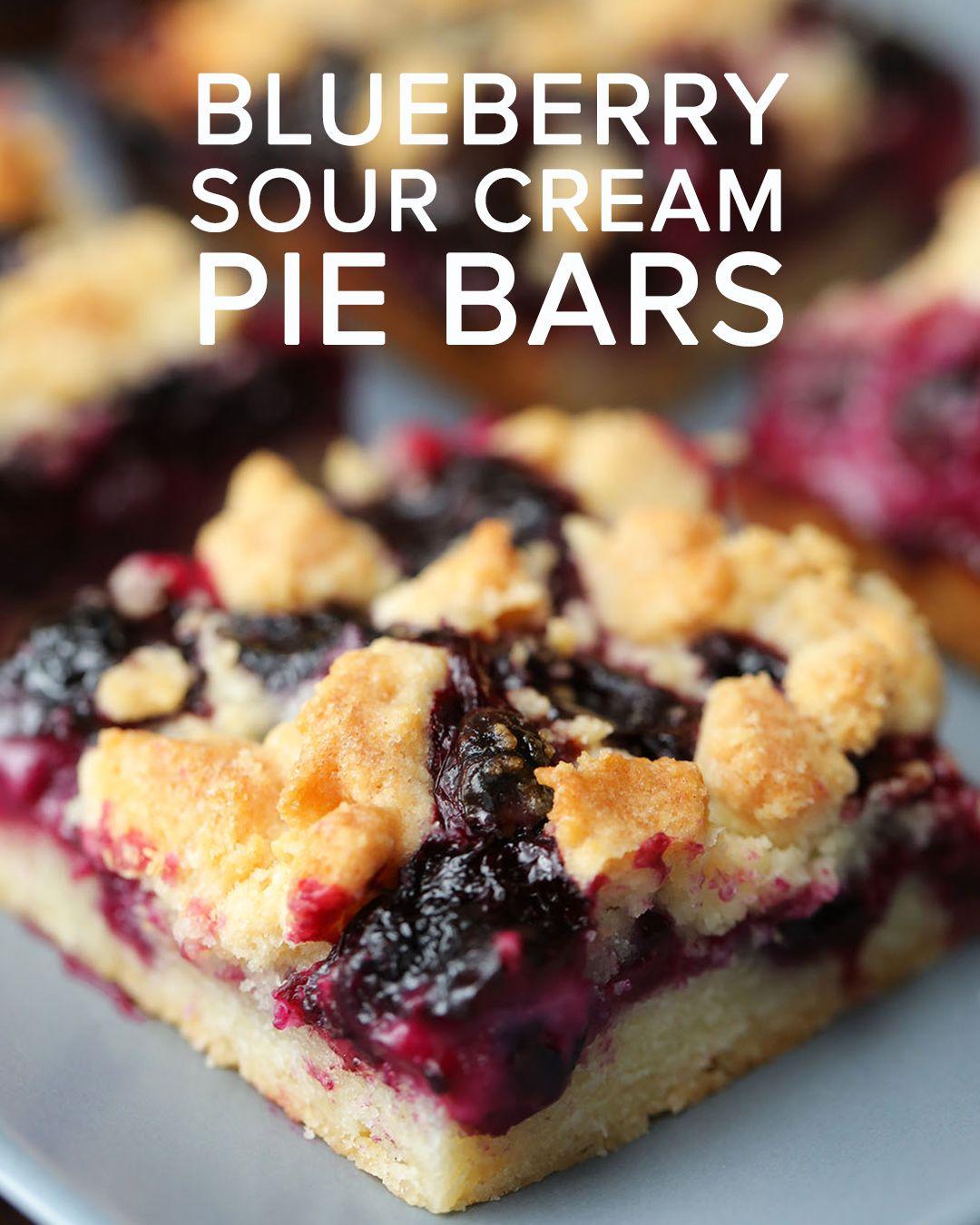 Blueberry sour cream pie bars sour cream recipes