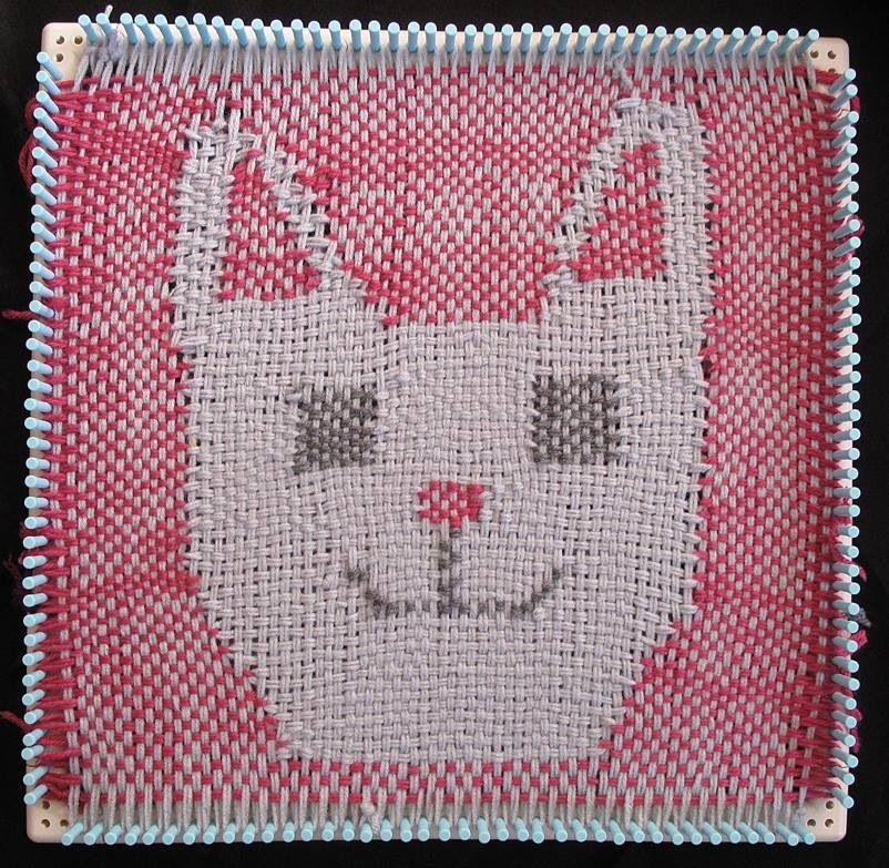Telar de gatito | Manualidades | Pinterest | Telar y Gato