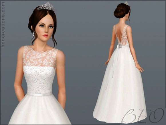 Sims 3 Finds Bride 14 Wedding Dress At Beo Creations Bethany