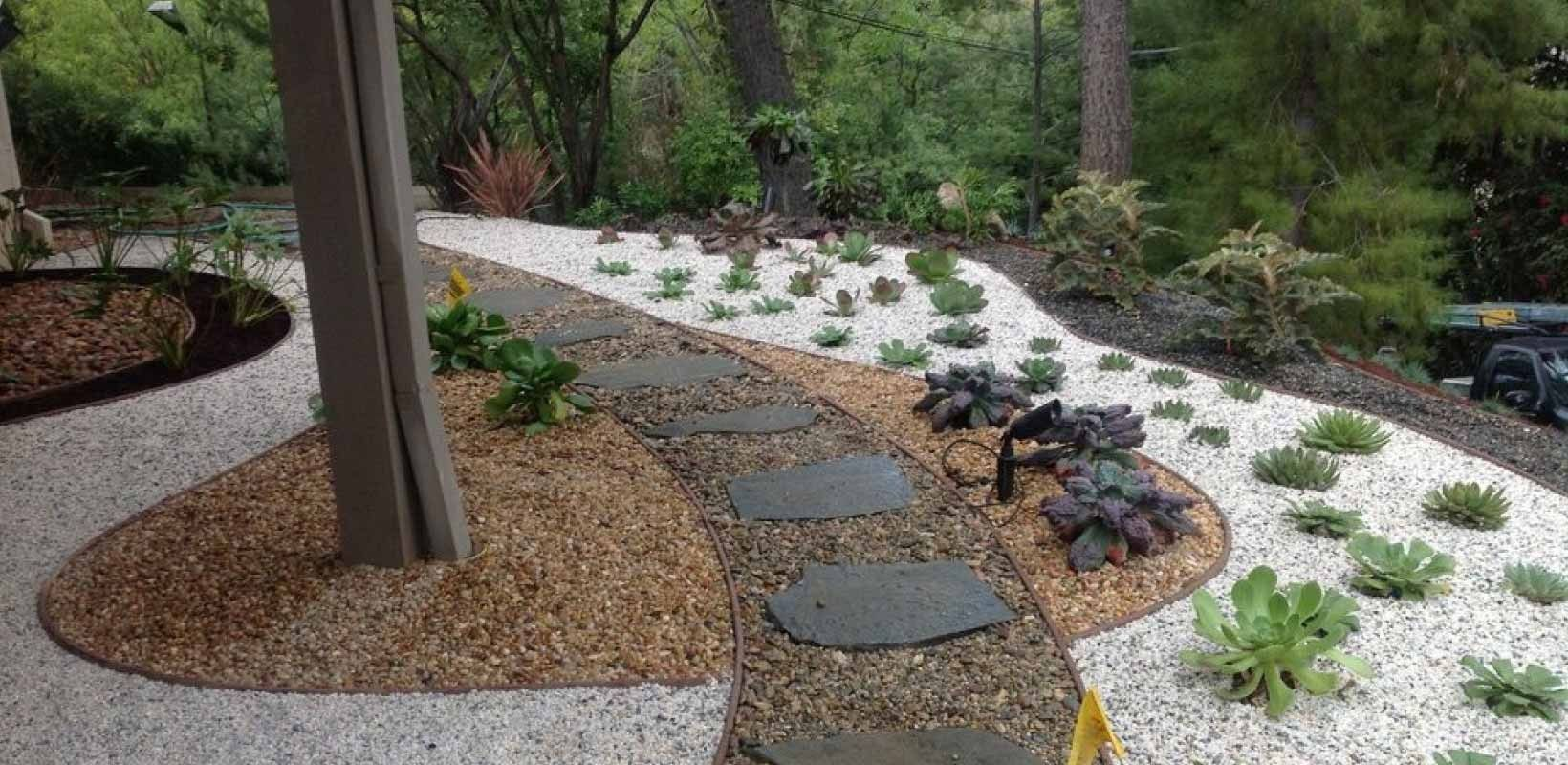 Magnificent Backyard Landscaping Ideas With Gravel  Gravel