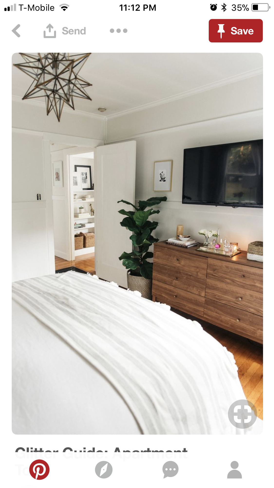 Small Master Bedroom, Small Apartment